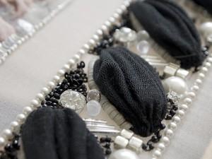 チュールを使った刺繍