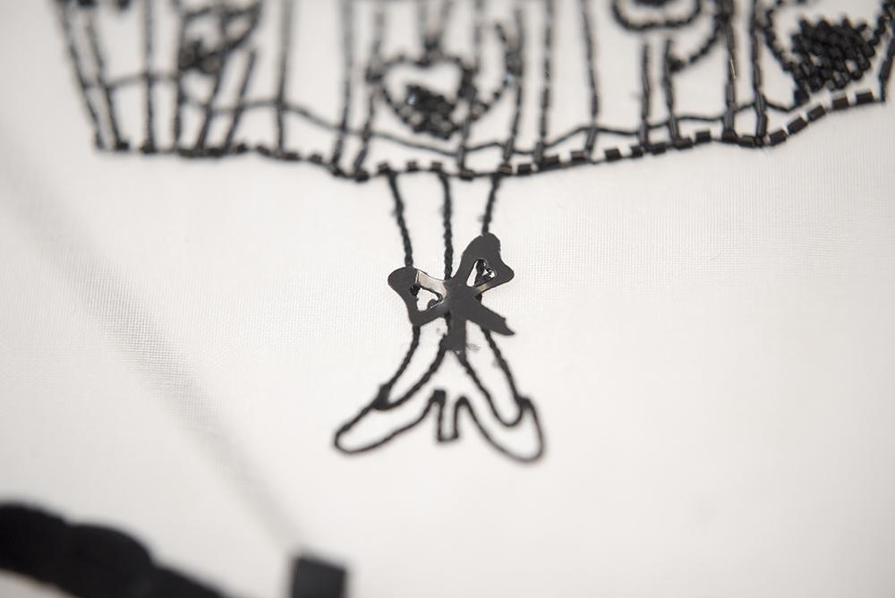 刺繍のお教室で自由作品