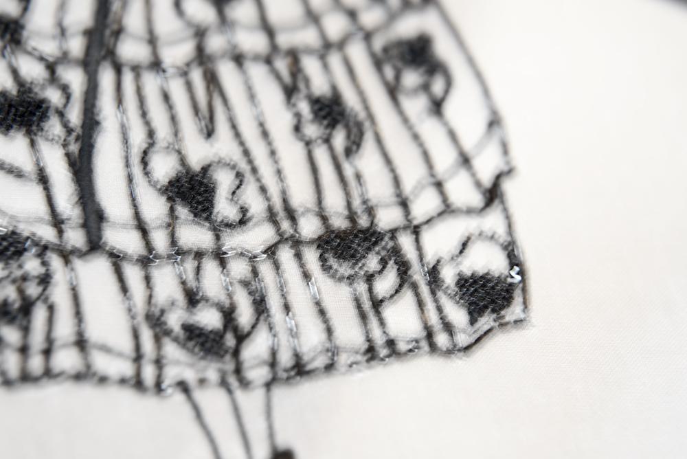 モダン 刺繍