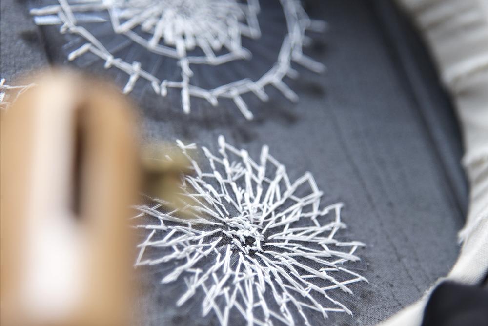 オートクチュール刺繍 お教室 変形スパンコール
