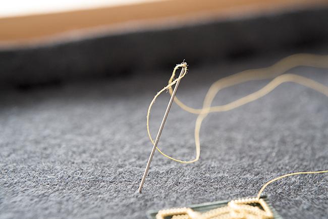 金モール 刺繍 エンブレム