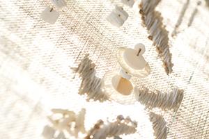 糸 オートクチュール刺繍 シェル 貝