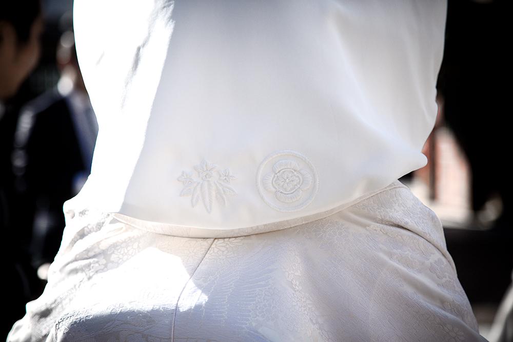 綿帽子 家紋 刺繍