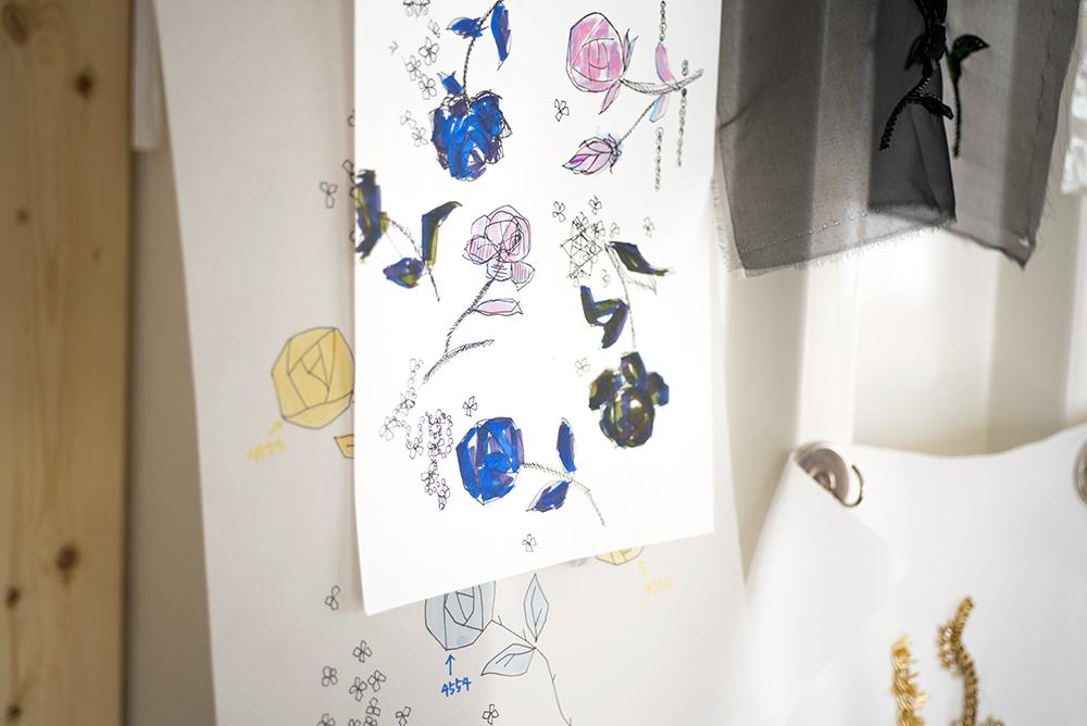 刺繍 図案 お花