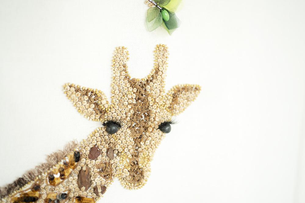 キリン 刺繍