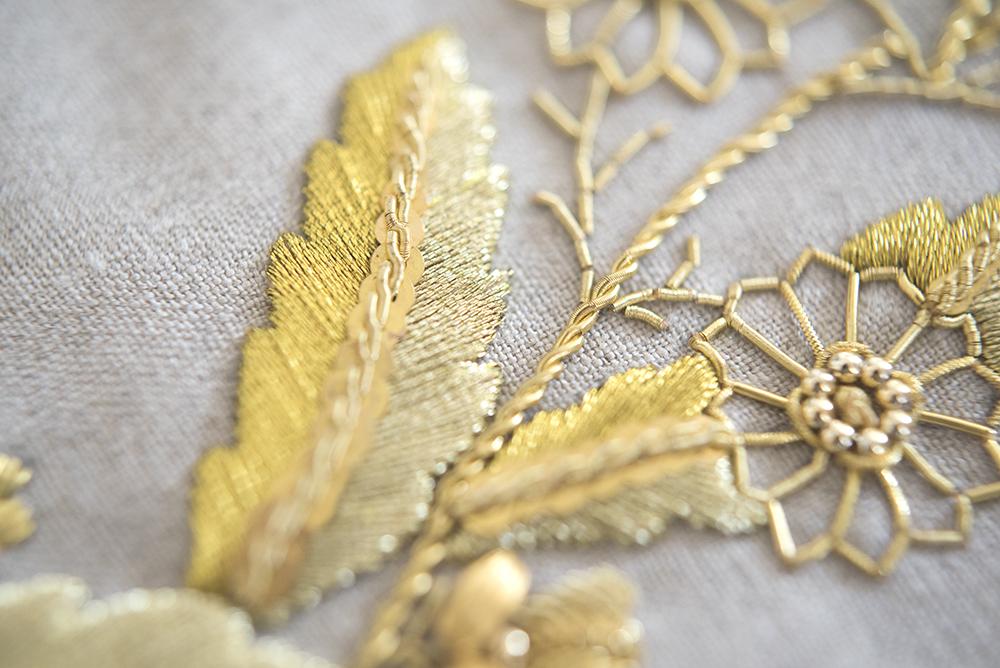 ゴールドワーク 刺繍 フランス