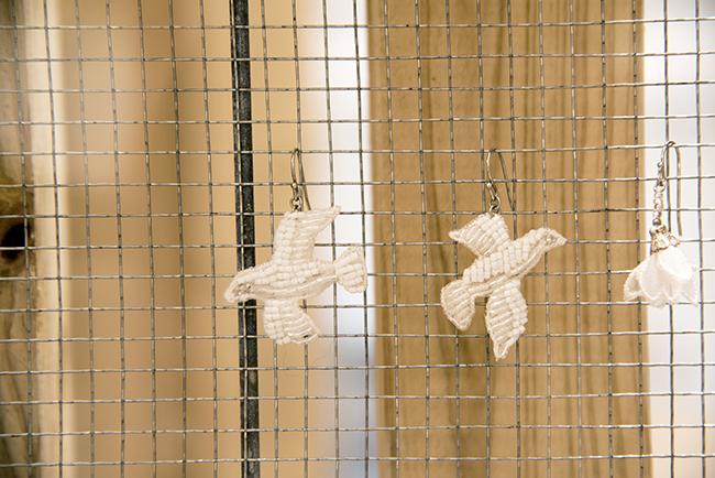 刺繍 アクセサリー 鳥