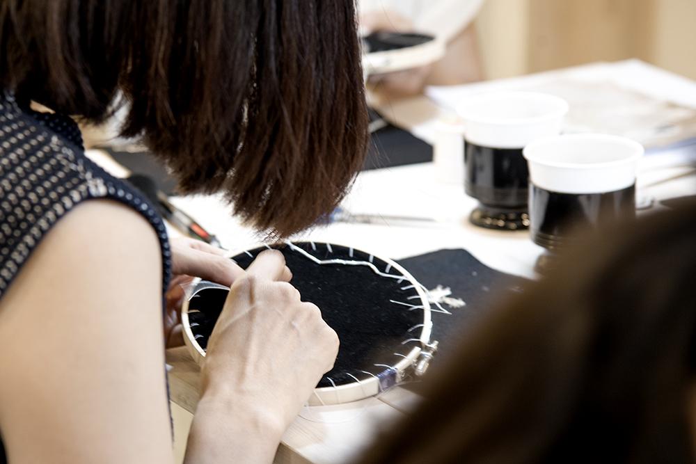 ブローチ 刺繍 レッスン