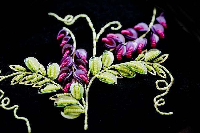 刺繍 アトリエ 花