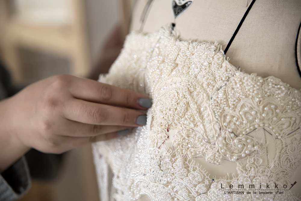 花嫁 オートクチュール 刺繍