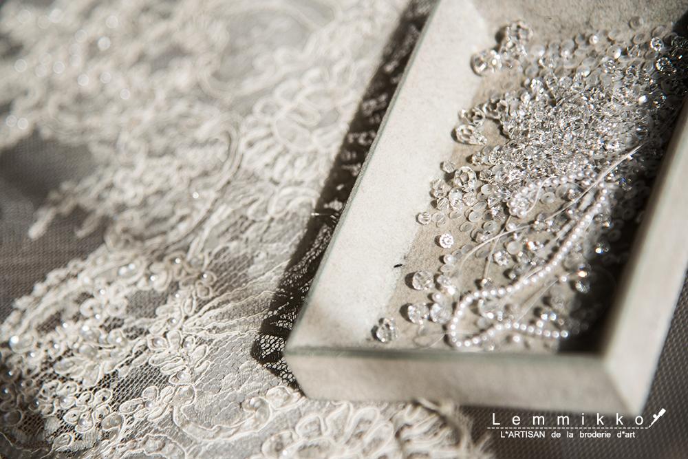 オートクチュール 花嫁 刺繍