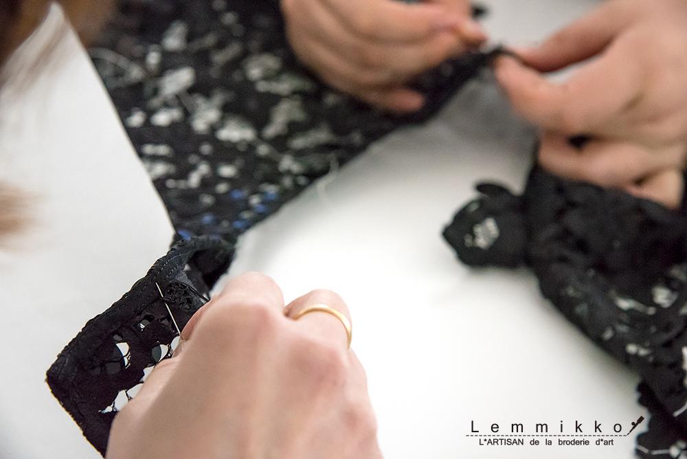 レース オートクチュール 刺繍