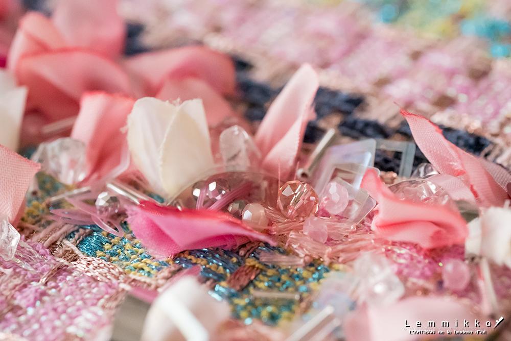 オートクチュール刺繍 花
