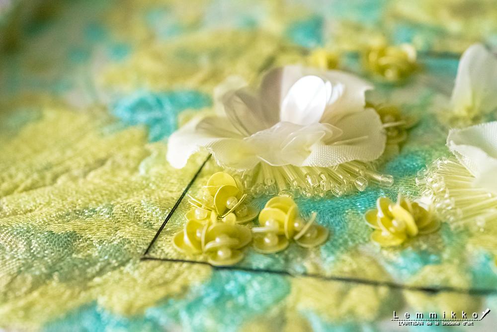 オートクチュール刺繍 スパンコール 付け方