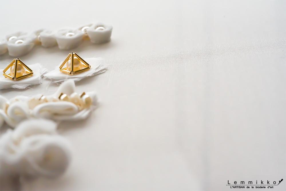 幾何学 オートクチュール刺繍