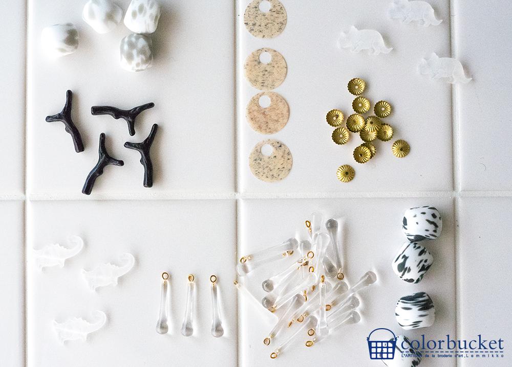 ビーズ 刺繍 素材