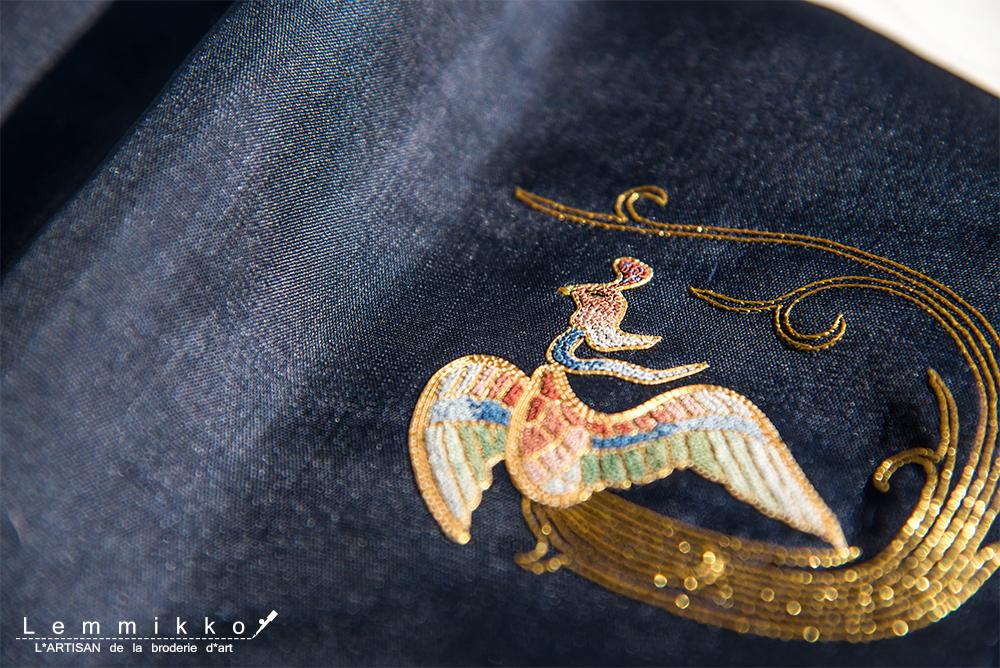 鳳凰 刺繍