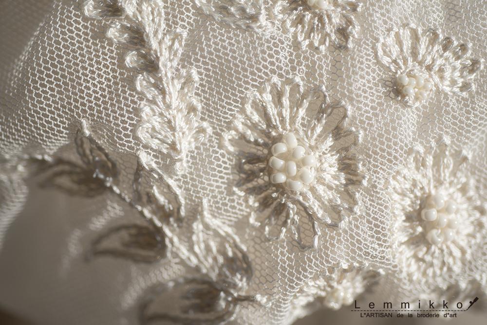 チュール 刺繍 ウエディング