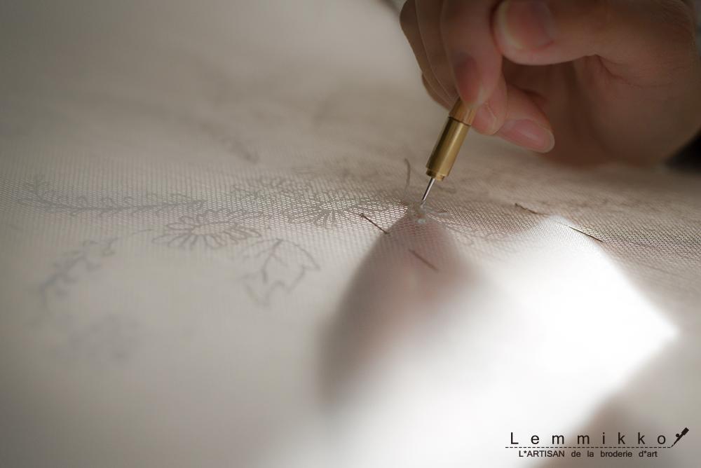 クロシェ 刺繍