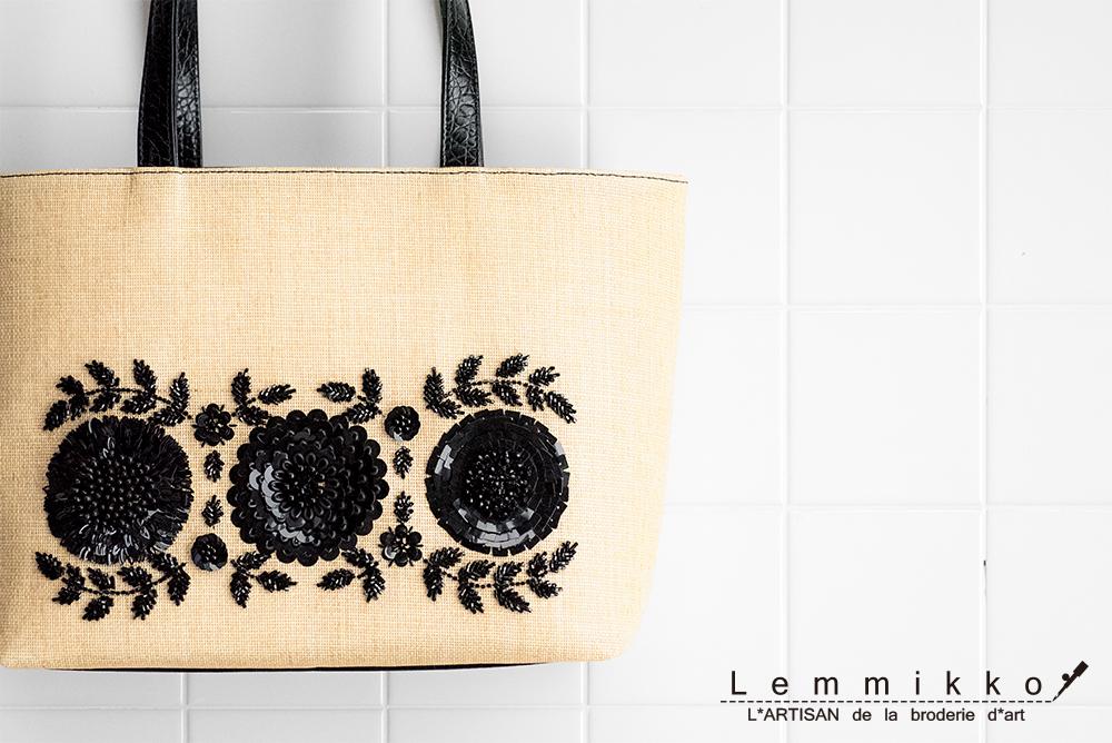 夏用の刺繍バッグ