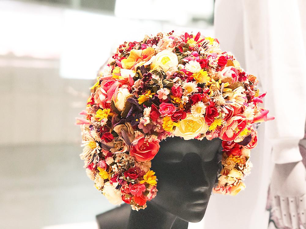 花のヘッドドレス