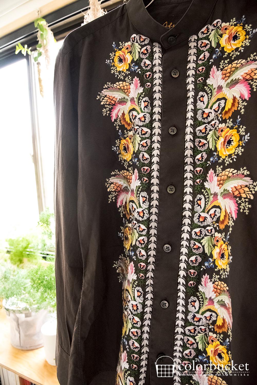 花柄の西洋宮廷衣装の刺繍