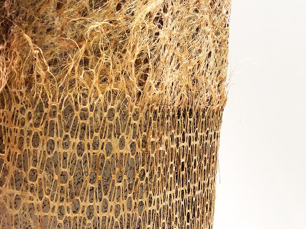 草の根を使ったドレス