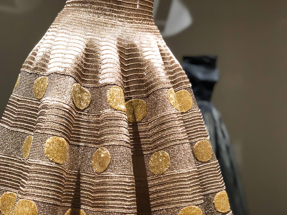 アライア ドット柄の刺繍ドレス