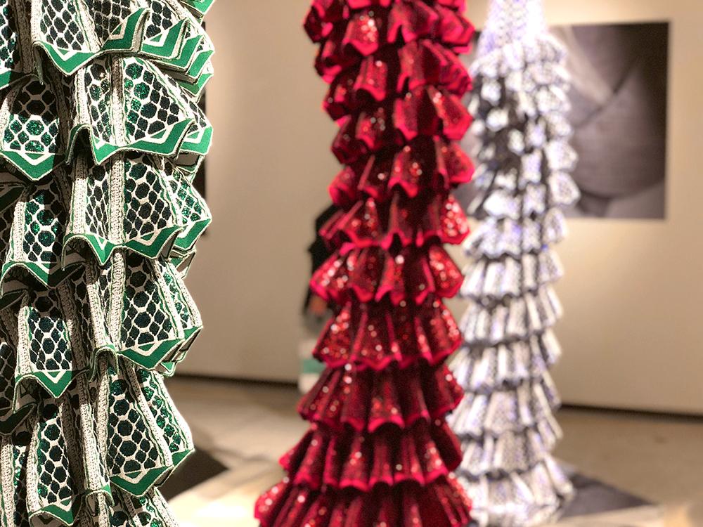 アライア スパンコール刺繍のドレス