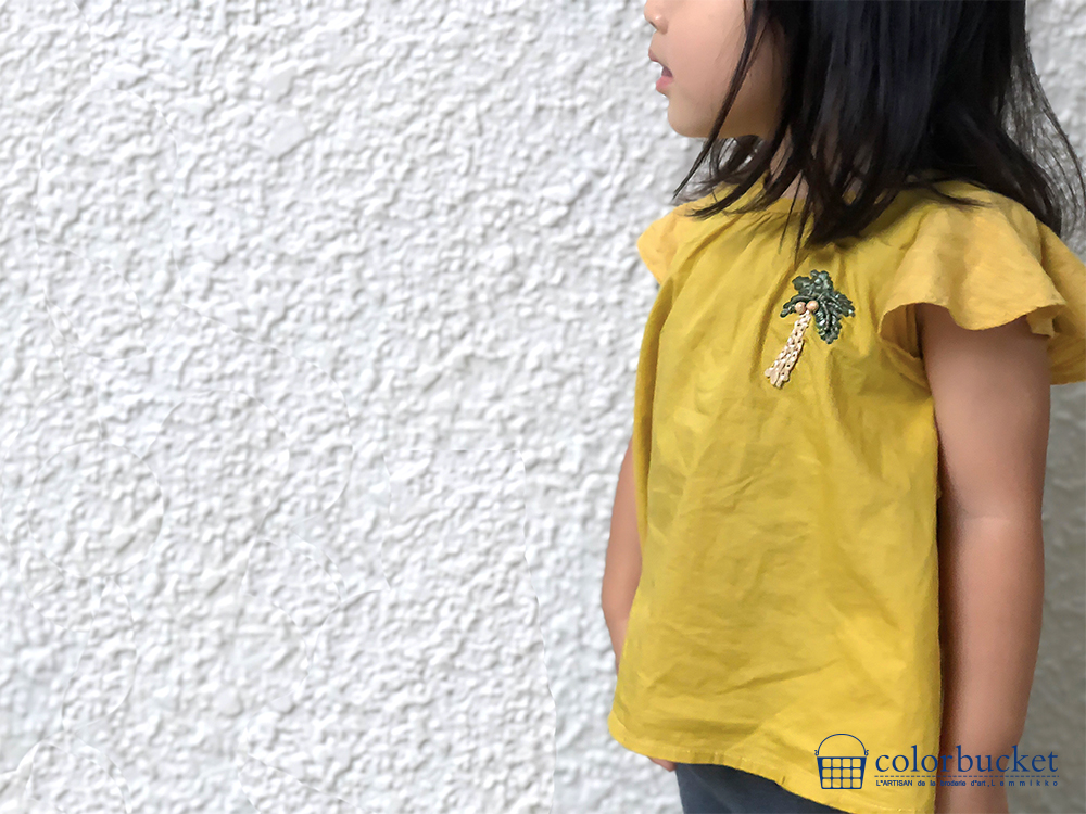 子供の夏の刺繍