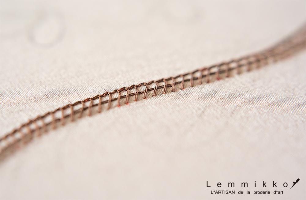 リュネビル刺繍の綺麗な裏側