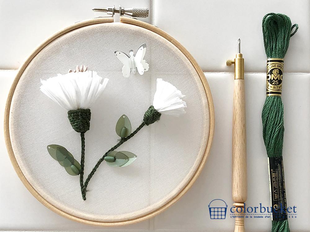 リュネビル刺繍のワークショップ