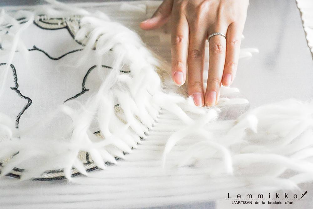 woolの刺繍
