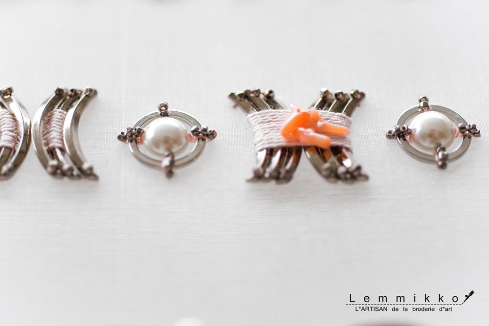 コレクションの冷たい金属刺繍