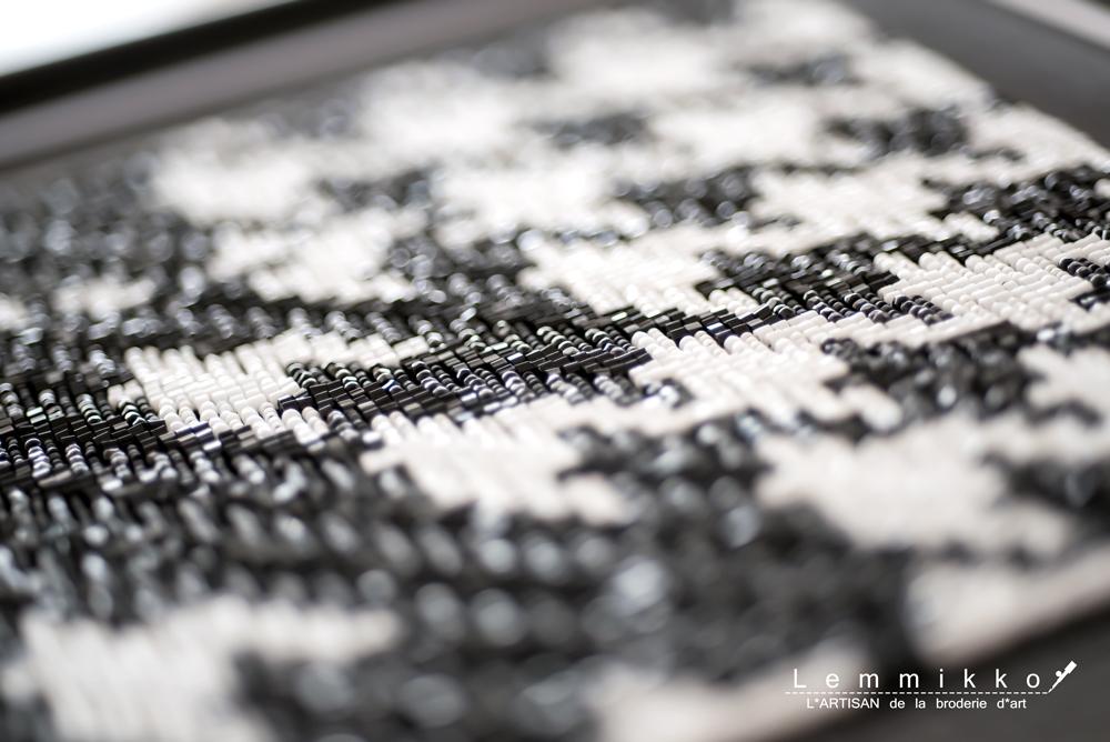 千鳥柄のオートクチュール刺繍