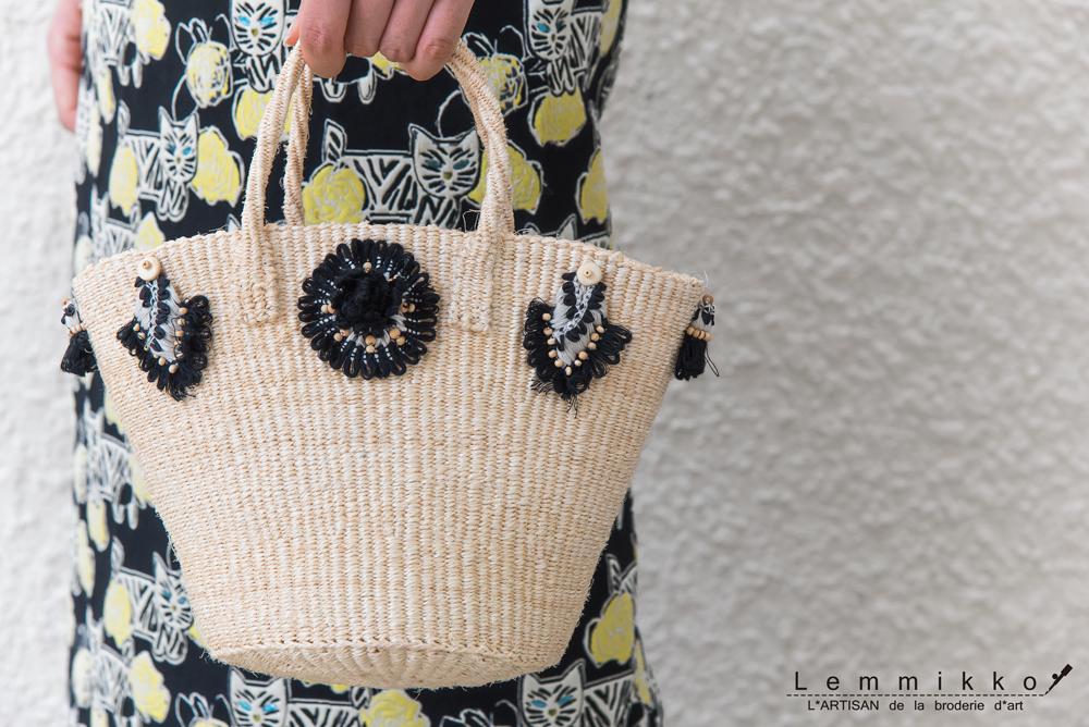 夏にぴったりの刺繍バッグ