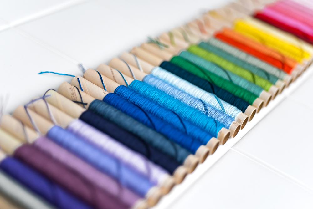 オートクチュール刺繍のシルク