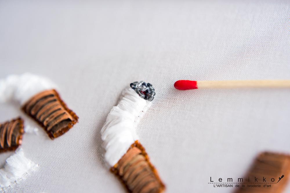 タバコのオートクチュール刺繍