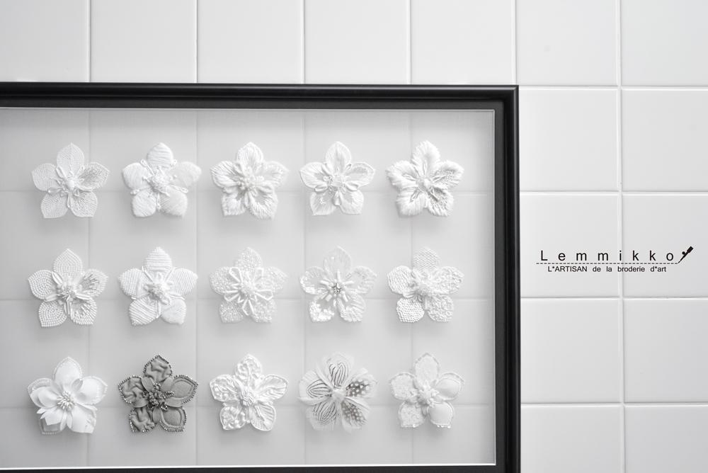 リュネビル刺繍のお花の刺繍