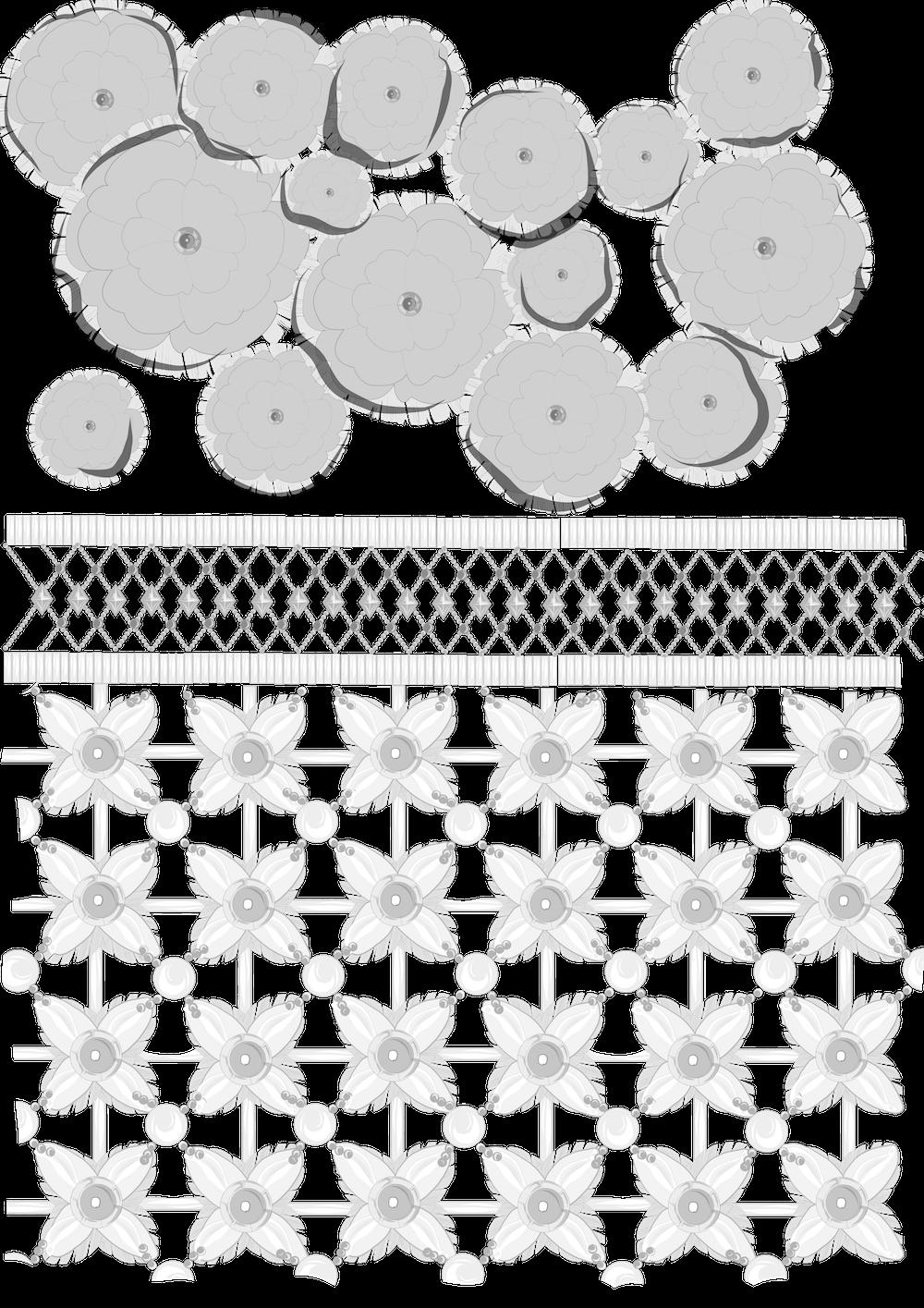 刺繍のデザイン画