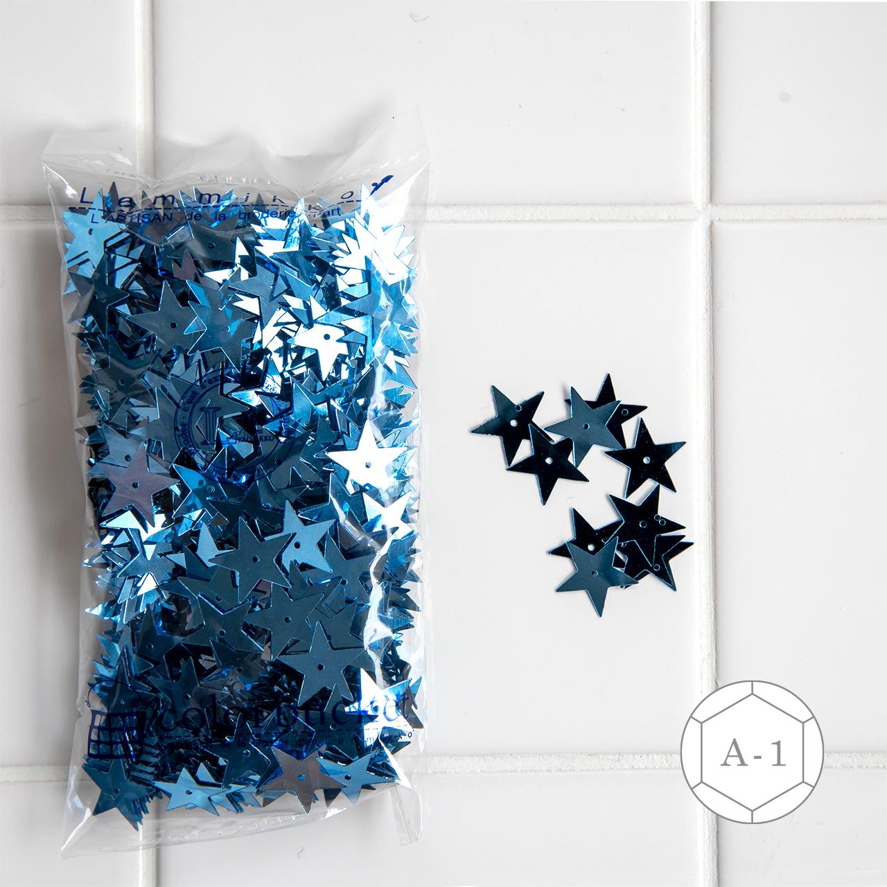青い星形のスパンコール