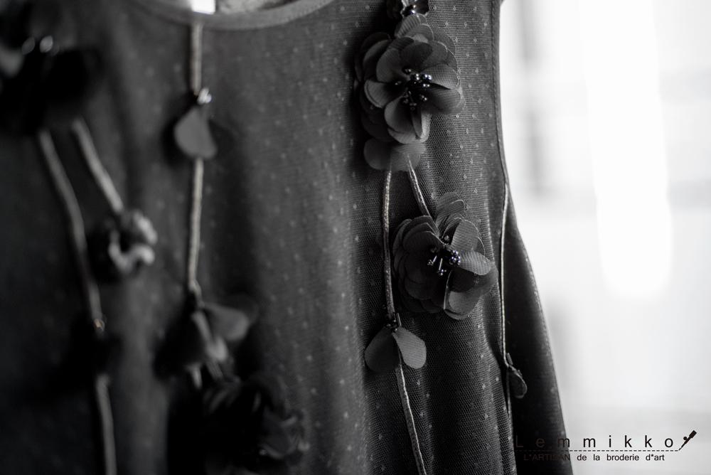 花のオートクチュール刺繍