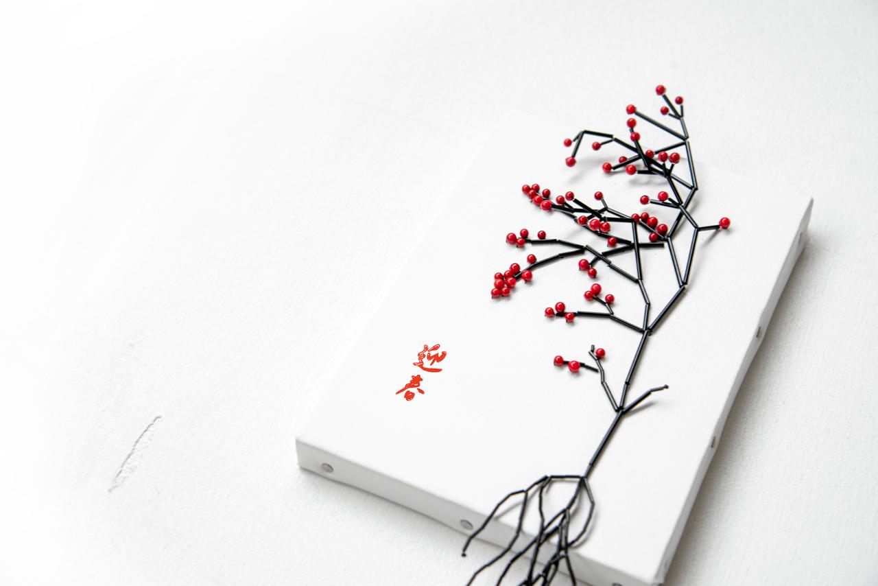 刺繍正月飾り