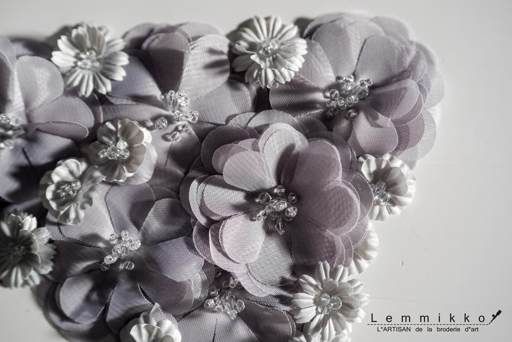 花のオートクチュールししゅう