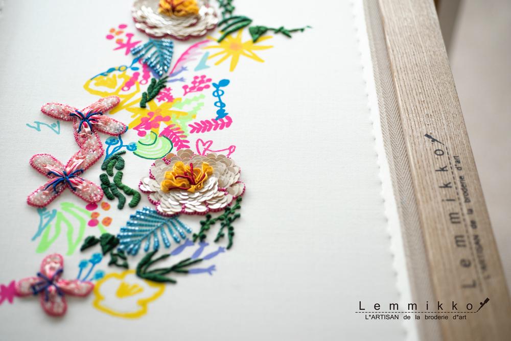 カラフルで可愛い刺繍