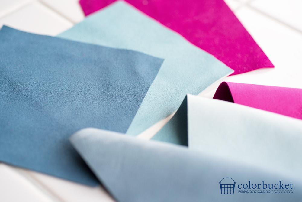 刺繍の素材の革