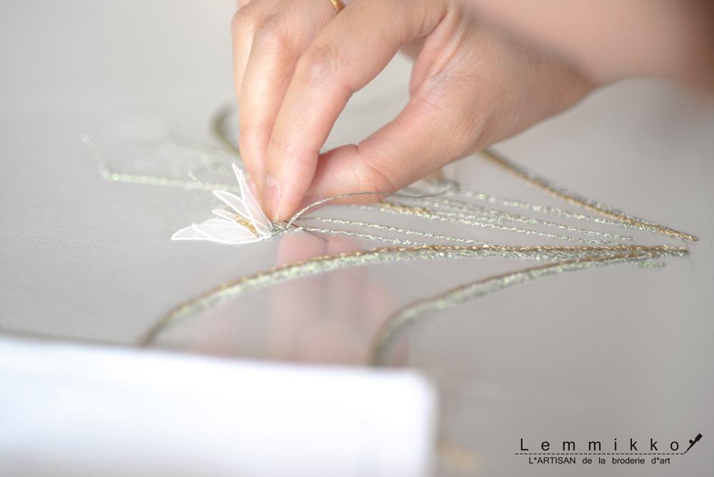 ウエディング刺繍