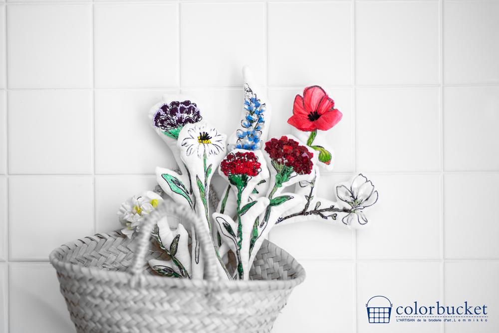 子供でもできる花の刺繍