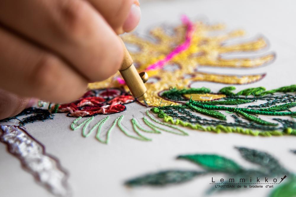 センスの良いリュネビル刺繍のレッスン
