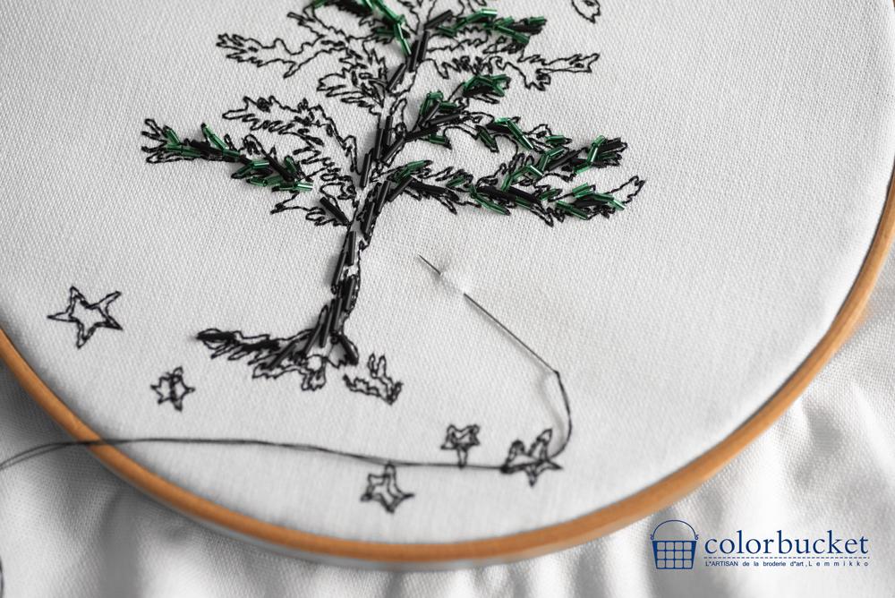 もみの木の刺繍